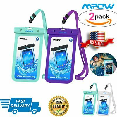 2 Pcs MPOW Waterproof Bag Pouch Dry Case Cover Universal Summer Gift