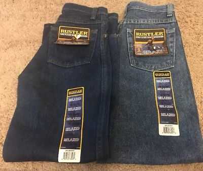 2 Pairs Of RUSTLER by WRANGLER NEW Boys Jeans 12 Slim Relaxed