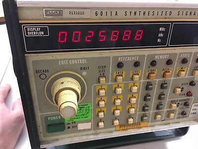 Fluke 6011A Signal Generator 10Hz to 11MHz (A54840016) Tested Working Sold As Is