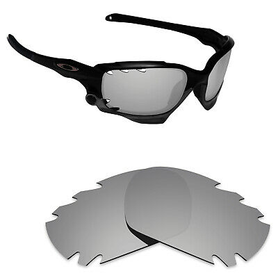 Hawkry Polarized Replacement Lenses for-Oakley Jawbone Vented Silver  Titanium