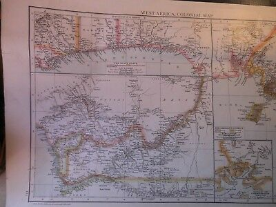 West Africa:colonies Of Victorian Age-Sheet:4 Antique Maps C1890 Printed Leipzig