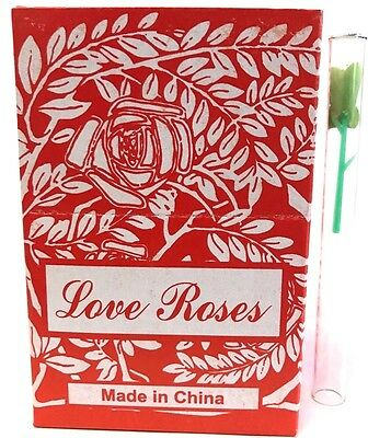 "Tube Tiny Silk Love Roses - Full Case 50 boxes of 36 4"" Glass Tubes (1728 Total)"
