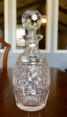 Antique Vintage 11'' American Brilliant Deep Cut Crystal Glass Heavy Decanter