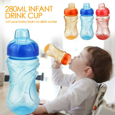 PP 3 Colors Duckbill Lovely Portable Baby Cup Straw Water Bottle Kids