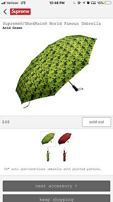 Supreme Umbrella Acid Green BRAND NEW Sold out