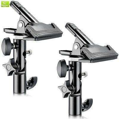 """Neewer 2 PCS Photo Studio Heavy Duty Metal Clamp Holder with 5/8"""" Light Stand At"""