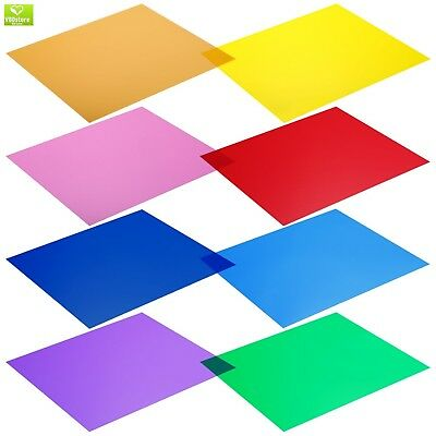 Neewer 12 x 12-Inches Pack of 8 Transparent Color Correction Lighting Gel Filter