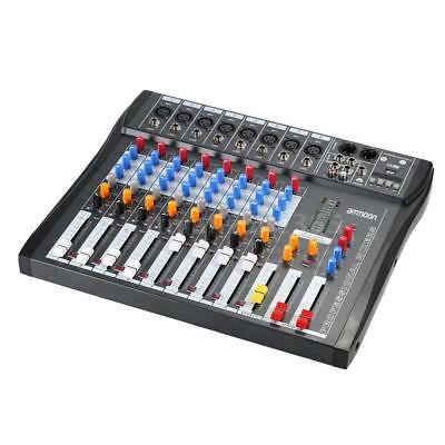 ammoon CT80S-USB 8 Channel Digtal Mic Line Audio Mixing Mixer Console with G7E7