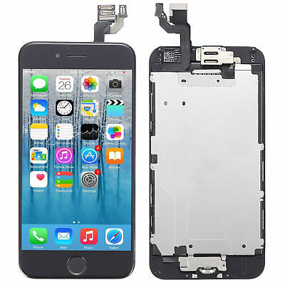 "Screen Replacement For iPhone 6 4.7"" LCD Digitizer Touch + Home Button + Camera"