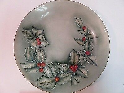 """Limoges France Collectible Plate 1891-1932 Holly Branch Hand Painted 6"""""""