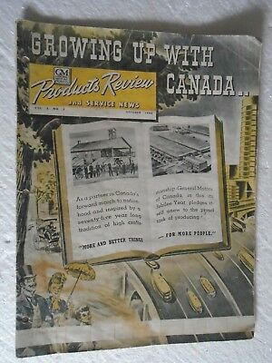 Rare GM General Motors Products Review And Service News Oct 1944 AS FOUND