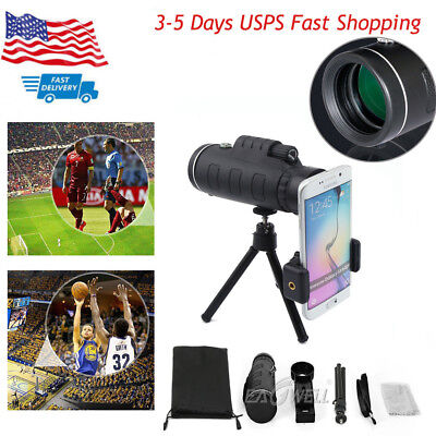 40X60 Clip-on OPTICAL ZOOM Telescope Photo Camera Lens For Universal Cell Phone