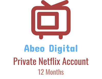 Netflix 12 Month Subscription & Warranty - 4K - FULLY PRIVATE - INSTANT DELIVERY