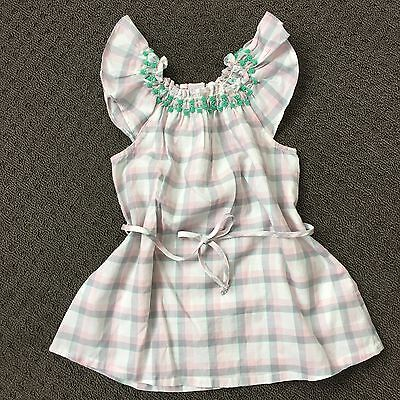 Country Road Baby Girl Flutter Sleeve Tunic Top Dress Size 0 6-12 months