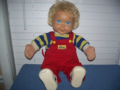 """Vintage 1986 My Buddy Blonde Doll w/ Red Overalls by Hasbro 21"""""""