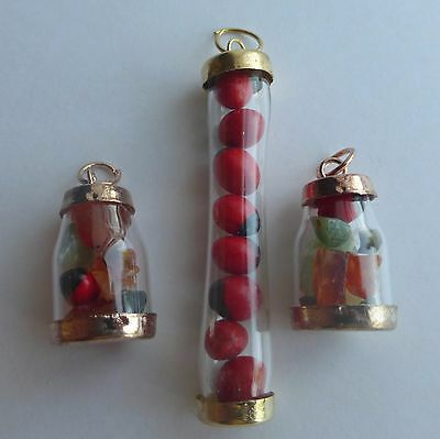 3 Peruvian Good Luck Bottles - Pendant