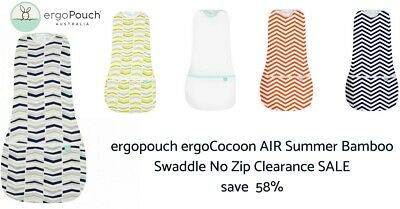 ergopouch ergoCocoon AIR Summer Bamboo Swaddle SIZE 6 - 12 Mths Clearance SALE