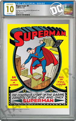2018 Dc Comics - Superman #1 - Premium Silver Foil - Cgc 10 Gem Mint First Rel