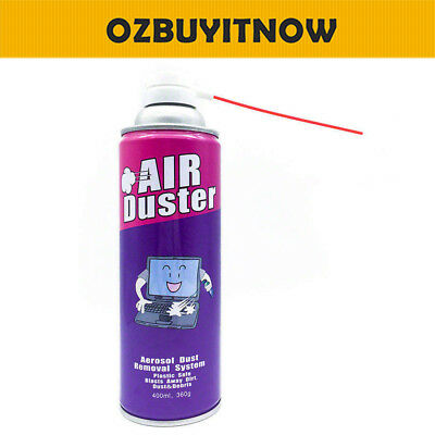 Compressed Air Duster Can Cleaner 400ml for Notebook Laptop PC Keyboard 1/2/4X