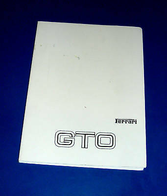 Original operation and maintenance manual Ferrari 288 GTO