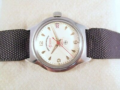 Vintage West End Sowan Prima Date Swiss Made Boy Size Wrist Watch #n644