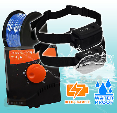 Rechargeable Dog Containment System Electric Training Fence Waterproof Hidden