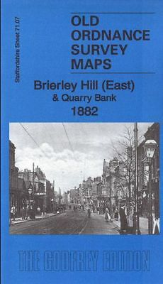 Old Ordnance Survey Map Brierley Hill East & Quarry Bank 1882