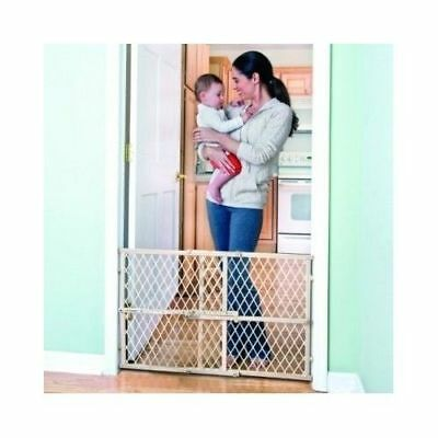Baby Gate Safety Fence Child Protection Wood Door Dog Cat Pet Barrier