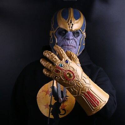 Avengers 3: Infinity War Gloves Thanos Titanium Cosplay Costume Prop Toys Mask