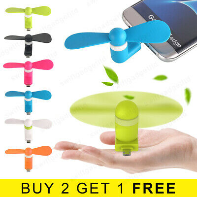 Micro USB Fan 5V Mini Portable Cooler Phone Fan for Samsung S5 S6 S7 Sony HTC LG