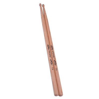 1 Pair Hickory Drum Sticks 7A Wood Tip Drumsticks for Students Performance