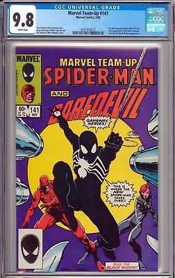 Marvel Team Up #141 CGC 9.8 NM/MT 1st Appearance of Black Costume WHITE PAGES