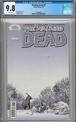Walking Dead #8 CGC 9.8 NM/MT WHITE PAGES