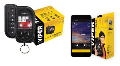 Viper Car Remote Start & Alarm Color OLED 2-Way Remote 5906V + SmartStart VSM450