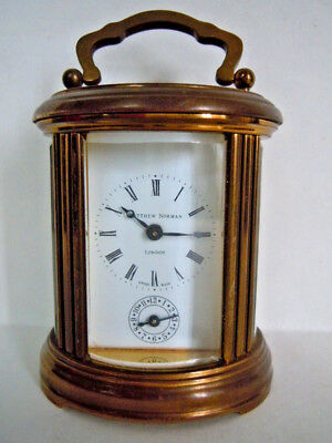 Vintage Matthew Norman Brass Swiss Carriage Clock