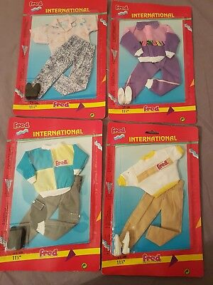 4x Fred Puppenkleidung Vintage Fashion Mode Outfit Neu Ovp Plasty Petra Lundby