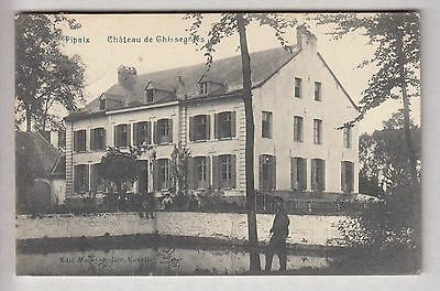 Cpa Belgique Europe -  Pipaix Chateau Castle De Ghissegnies Habitants 1909 ~B43