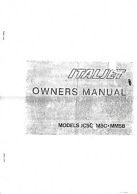 Italjet Owners Manual. Models Jc5C. M5C. Mm5B.