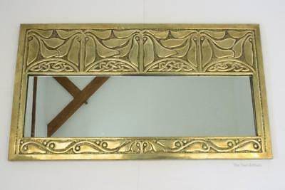 Art Nouveau/Arts and Crafts Antique Alexander Ritchie Iona Brass Wall Mirror