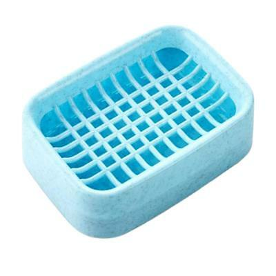 PP Plastic Soap Dish Drain Soap Case Tray Holder Bathroom Blue,Green,Pink