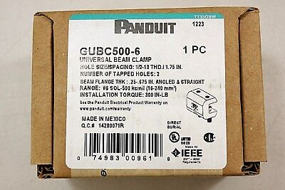 NIB Panduit GUBC500-6 Universal Beam Grounding Clamp - Range #6 S0L-500 kcmil