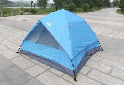 NEW 4-Person Green Double layer Waterproof Family Camping Hiking Instant Tent