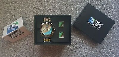 Rugby World Cup 2015 Watch & Cuff Link Set Colection