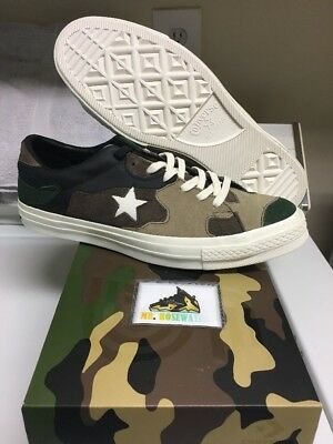 77443cd00266f Sneakersnstuff x Converse One Star SNS Brown Camo Size 10 161406C brand new  DS!
