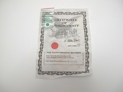 Genuine Tamiz Emerald with Certificate of Authenticity (1986)