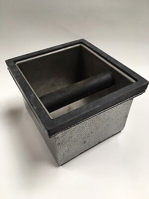 Rattleware Espresso Supply Stainless Steel Knock Box Set 6 x 5.5 x 4 in