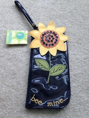 Vintage Girls Gymboree Sunflower Fields Wristlet Wallet Pencil Case NWT