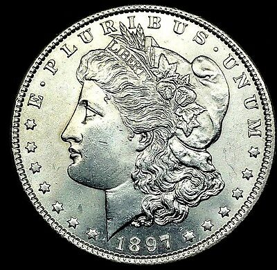 1897  Morgan Silver Dollar - Choice GEM BU  ~ Very High Grade Coin.