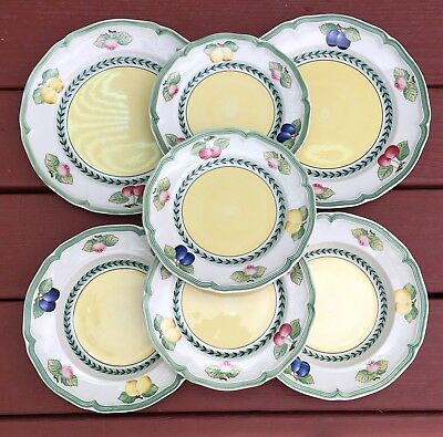 Villeroy & Boch China FRENCH GARDEN FLEURENCE 7 Pieces Dinner Salad Soup