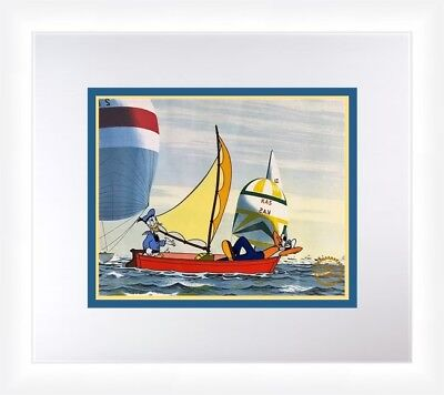 Walt Disney Donald Duck & Goofy No Sail L/ED SerIcel Custom Framed FREE SHIPPING